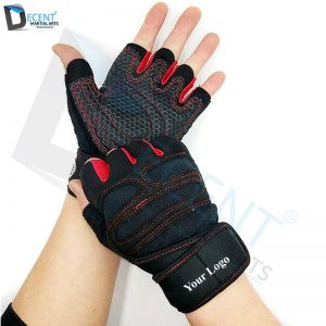 Finger Gym Fitness Gloves With Wrist Wrap Weight Lifting Equipment